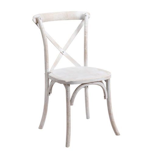 WHITE WOOD X BACK BANQUET CHAIR ...