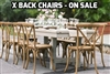 CROSS BACK BANQUET CHAIRS FREE SHIPPING