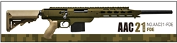 Action Army Full Metal AAC-21 Gas Sniper Rifle Airsoft Gun with Collapsible Stock (Dark Earth Tan)