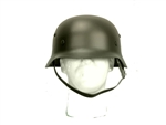 Airsoft M1 WWII Metal Helmet with Leather Liner and Straps (Olive Drab)