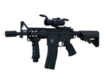 "AGM Full Metal M4 ""Stubby"" with Extended 500-Round Magazine and Red Dot Scope CQB ackage"