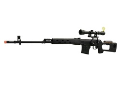 A&K SVD Dragunov 560 fps Maximum Upgrade 3-9x40 Scope Package Spring Airsoft Sniper Rifle