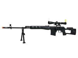 A&K SVD Dragunov 3-9x40 Scope and Bipod Package Spring Airsoft Sniper Rifle