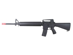 A&K M16A3 Full Metal Airsoft Electric Gun with Vertical Grip and Rail Covers (Black)