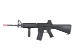 A&K SR16 Full Metal Airsoft Electric Gun with Vertical Grip and Rail Covers (Black)