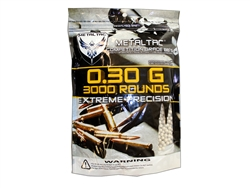 0.3g  BB 6mm Airsoft 3000 Bag MetalTac
