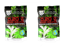 MetalTac 0.2g BB Biodegradable 6mm Airsoft 10,000 Rounds Rounds
