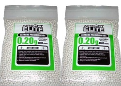 Bio-degradable 0.2g Airsoft BB 6mm 8000 Bag