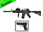 Special Warfare Bundle with M83 Tactical M4A1 Electric Airsoft Gun with M26 Advanced Spring Pistol