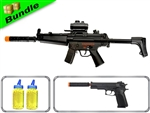 Spec Ops Class Bundle with CM023 KP5 + M24 1911 with Suppressor Spring Pistol + 4000 0.12G BB Rounds