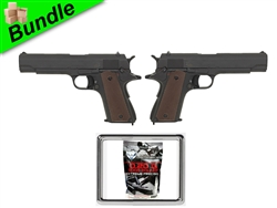 Blaze of Glory - 1911 Edition Bundle with Dual CM123 Fully Automatic Electric 1911 Pistols and 5000 Round Bag of 0.20G BBs
