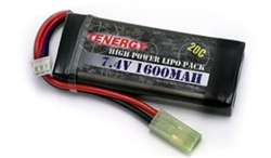 Tenergy LiPO 7.4V 1600mAh 20C Airsoft Battery Pack