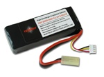 11.1 Volt 1600mAh 20C Li-Poly - mini connector Airsoft Gun Battery Pack