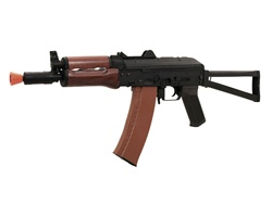 CYMA AKS-74U Full Metal Airsoft Electric Gun with Real Wood Hand Guards [CM.045A]