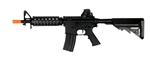 CYMA M4 CQB-RIS Electric Airsoft Gun with Metal Version 2 Gearbox, Adjustable Crane Stock, and Removable Rear Iron Sight