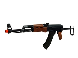 Cyma AK47-S Metal Gear Box 330 fps Foldable Stock Full Metal Body - Wood Color