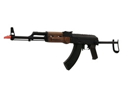 Cyma AK 74M Full Metal Real Wood folding stock Airsoft Electric Gun