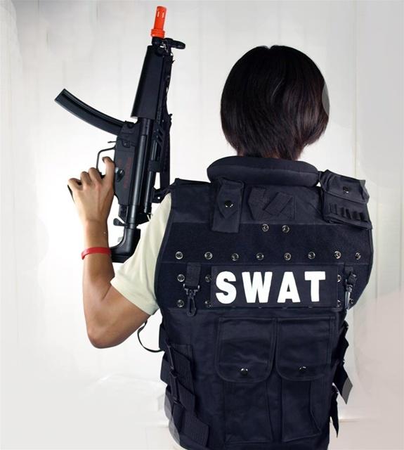 Halloween Costume - Adult Men Package Swat Police Tactical Vest + Gun Package & Halloween Costume - Adult Men Package Swat Police Tactical Vest + ...