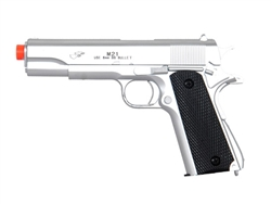 DE M-21S M1911 Spring Airsoft Pistol (Silver)
