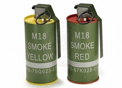 M18 Smoke Grenade BB Can Set Red/Yellow (G-07-045)