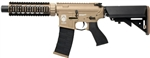 G&G GR4 CQB-S Mini Electric Blow Back Airsoft Gun (Tan/Black)