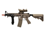 G&G GR-15 Raider TAN CQB Carbine Blow Back Airsoft Gun with Tan scope package