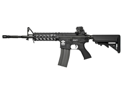 G&G CM16 Raider Long Gas Blow Back Airsoft Gun (Black)