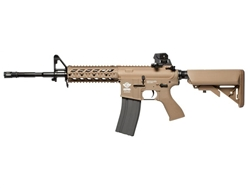 G&G CM16 Raider Long Gas Blow Back Airsoft Gun (Desert Tan)