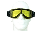 Airsoft Protection Goggles Yellow Polycarbonate Lens