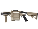 ICS GLM 6 Round Revolver Multiple Grenade Launcher GLM Airsoft Gun (TAN)