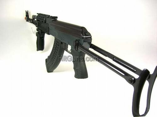 JG AK47 Tactical RIS Folding Stock Black Airsoft Electric Gun