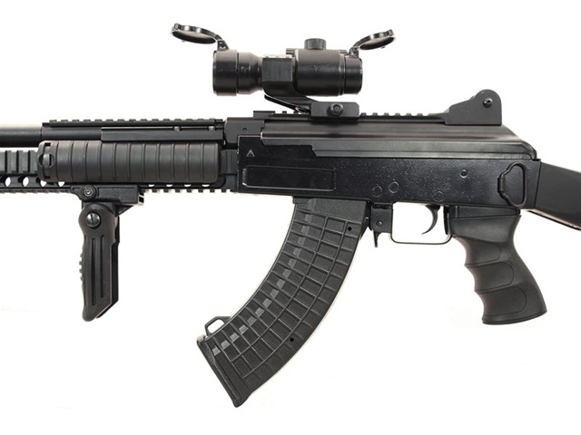 jg ak47 ras socmod ii suppressed full metal airsoft gun