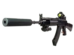 JG AK47 RAS Socmod Suppressed Full Metal & Upgraded Power Airsoft Gun