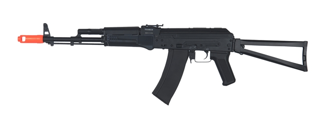 JG Tactical AK47 JG-1020 Fully Automatic Polymer Body Airsoft Electric Gun  with Full Stock and Folding Vertical Grip