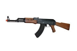 JG AK47 JG-6803 Fully Automatic Polymer Body Airsoft Electric Gun with Wood Finish