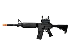 JG M4-A1 Enhanced Black Version Airsoft Electric Gun [JG6604] with Red Dot Sight Package
