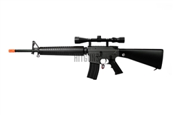 JG M16-A3 Airsoft Electric Gun [JG-F6620] with Metal 3x9x40 Variable Scope Package