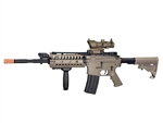 JG M4 S-System Dark Earth Tan Enhanced Version Airsoft Electric Gun [JGF6613-DE] with Tan Scope Package