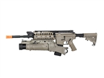 JG M4 S-System Airsoft Electric Gun and EGLM 40MM Grenade Launcher Airsoft BB Launcher (Dark Earth Tan)