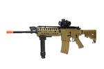JG M4 S-System Coyote Tan Limited Edition Airsoft Electric Gun with 1x30 Red Dot & Bipod Foregrip Package