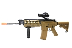 JG M4 S-System Coyote Tan Limited Edition Airsoft Electric Gun with Elevated Red Dot Sight & Vertical Foregrip Package