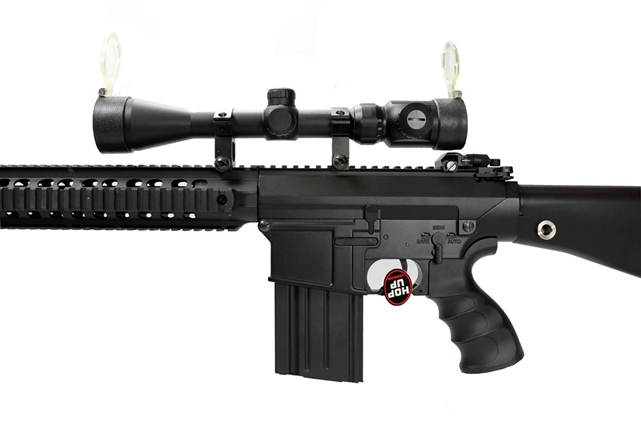 JG M4 SR 25 Full Metal Airsoft Electric Gun With Scope And