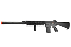 "JG M4 SR-25 Full Metal Airsoft Electric Gun [JG-FB6652] with 11.5"" Attachable Suppressor Unit and Vertical Foregrip"