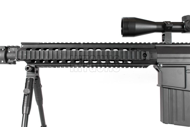 JG M4 SR 25 Full Metal Airsoft Electric Gun FB6652 With 115 QD Suppressor Unit And Vertical Foregrip Scope Bipod Package