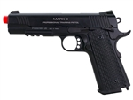 KWA M1911 MKII PTP Professional Training Pistol Airsoft Gas Blow Back Pistol (Black)