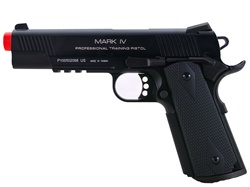 KWA M1911 MKIV PTP Professional Training Pistol Airsoft Gas Blow Back Pistol (Black)