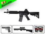 Lancer Tactical Airsoft Gun Player's Package 2.0 - M4 CQBR MK18 Airsoft Gun LT-02B with M47 Shotgun, M757 Pistol, 10,000 Rd BB + Free Shipping