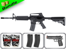 Lancer Tactical Airsoft Gun Player's Package M4A1 Carbine LT-03B with 10,000 Rd BB, 3 Magazines, M757 Pistol + Free Shipping