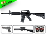 Lancer Tactical Airsoft Gun Player's Package 2.0 - M4A1 Carbine LT-03B with M47 Shotgun, M757 Pistol, 10,000 Rd BB + Free Shipping