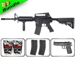 Lancer Tactical Airsoft Gun Player's Package M4A1 RIS LT-04B with 10,000 Rd BB, 3 Magazines, M757 Pistol + Free Shipping